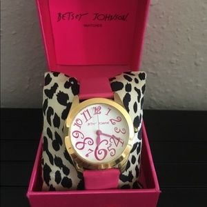 Betsey Johnson Leather Watch